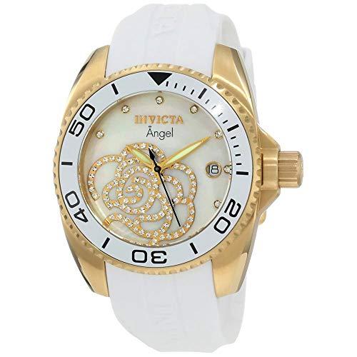 Invicta 0488 Angel Damen Uhr Edelstahl Quarz weißen Zifferblat