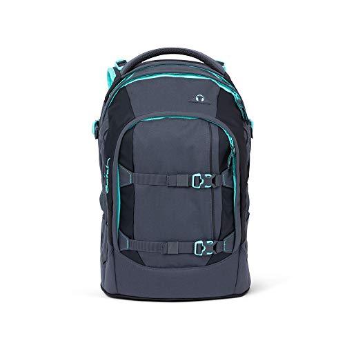satch Pack Mint Phantom, ergonomischer Schulrucksack, 30 Liter, Organisationstalent, Grau/Mint