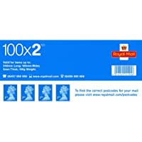100 x 2nd Class Stamps - Postage Stamp Sheet