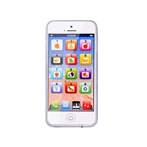 Kinder Kinder spielen Spielzeug Telefon Magic Touch mit Micro-USB-Port pädagogischen Genuss Geschenk Preis für Baby (weiß) Dekoration Touch-tone-telefon