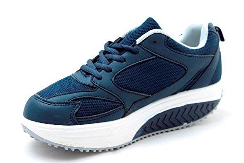 Schuhe Damen sneaners Fitness Caprihose Sport Gymnastik Blau