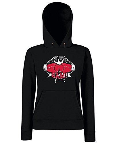 T-Shirtshock - Sweats a capuche Femme TBOXE0068 boxing final Noir