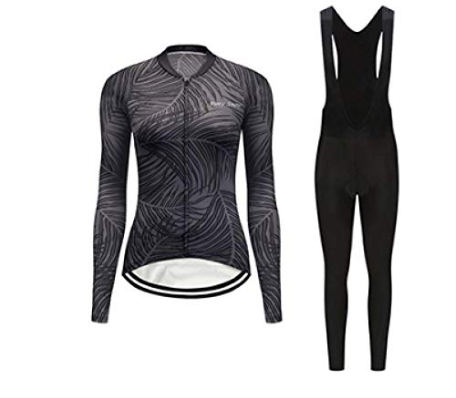 TENGFEII Damen Radsportbekleidung Sets Pro Fahrrad Trikot Kit Sport Lange Outfit Damenbekleidung Triathlon Skinsuit Kleid Fahrrad Kleidung @ S