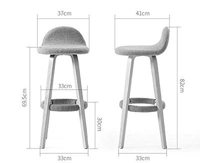 XRFHZT Bar-Stuhl Rückenlehne Schmiedeeiserne Bar Stuhl Zu Hause Moderne Minimalistische Bar Hocker Massivholz Hohen Hocker von XRFHZT bei Gartenmöbel von Du und Dein Garten
