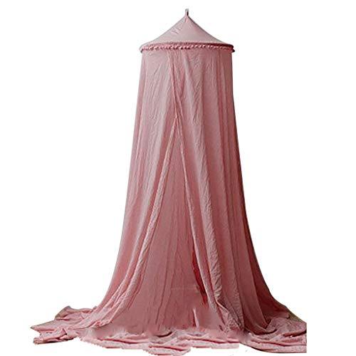 iHAZA Kinder Baby Bettwäsche Runde Kuppel Betthimmel Netting Bedeckung Moskitonetz Vorhang