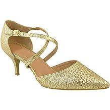 online para la venta los mejores precios auténtico auténtico zapatos dorados fiesta - Dorado - Amazon.es