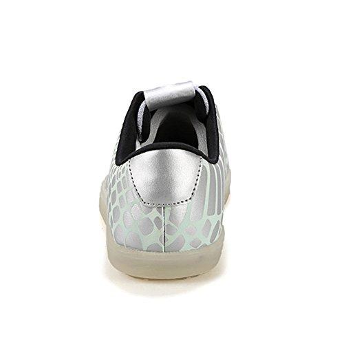 Moollyfox Couple LED Éclairé Lumineux Décontractée Baskets Blanc