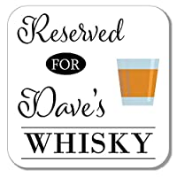 Personalised Whisky Drinks Wooden Coaster Mat Gift Present