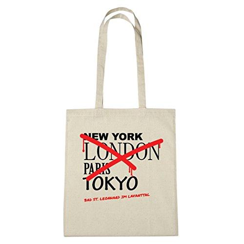 JOllify bagno St. Leonhard im Lavanttal di cotone felpato B2769 schwarz: New York, London, Paris, Tokyo natur: Graffiti Streetart New York