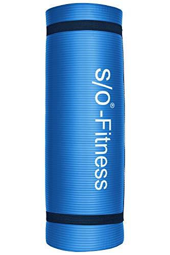 Esterilla de yoga de S/O® en 6 colores, 190 x 60 x 1,5 cm, esterilla para gimnasia, Pilates y fitness, sin sustancias nocivas y aislante, azul