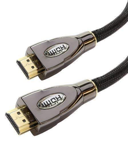 Laptone 5m High Speed Pro Gold V2.0/v1.4a HDMI-Kabel 3D 2160p PS4Sky HD 4K Ultra HD (Version 2.0, 18Gbit/s, ARC)