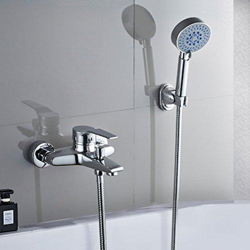 Auralum Design Duscharmatur Duschset Kupfer Duschsystem Wasserhahn mit 1.5m Schlauch