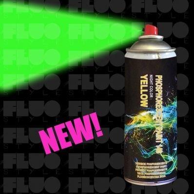 stickerslab Verdunkelungsfolie–Lack Spray Neon leuchtend, leuchtet im Dunkeln in 4Farben
