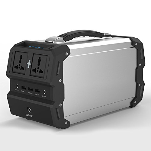 r Generator mit AC/DC Inverter für Camping Source Stromversorgung DC & USB-Outports, durch Solar-Panel/Steckdose/Auto-Steckdose (440Wh / 120.000mAh) ()