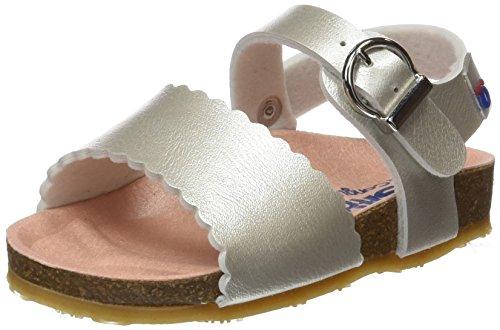 Conguitos  HVS14305, Chaussures souples pour bébé (fille) Argenté
