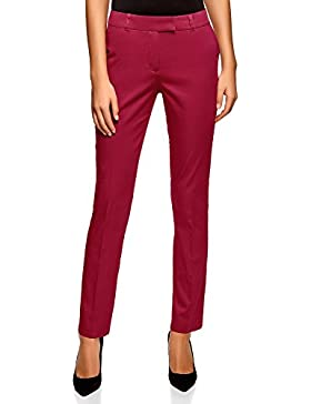 oodji Collection Mujer Pantalones de Algodón Stretch