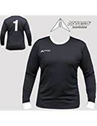 ATTONO maillot de gardien de but aux couleurs du maillot de gardien de but avec coussins noir