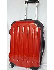 Reisekoffer Koffer Trolley Bordcase 50cm Hartschale rot