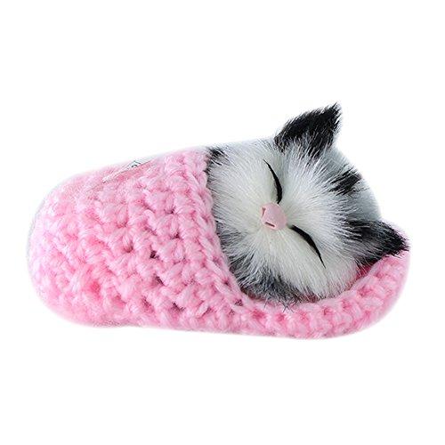 Preisvergleich Produktbild fairlove Lovely Simulation Spielzeug mit Sound Mini-Schlafende Katze Kätzchen Cat Toys Puppe Plüsch Spielzeug Geburtstag Geschenke Weihnachten Geburtstag Geschenke Handwerk Artcraft
