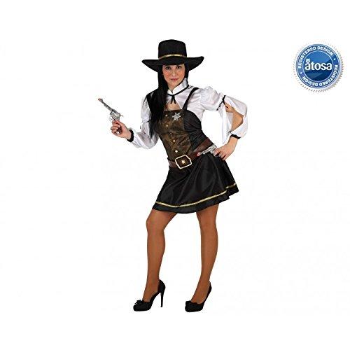 Atosa - Disfraz de cowgirl para mujer, talla M
