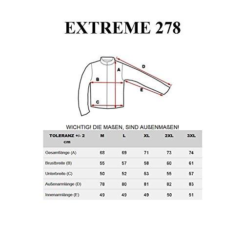 BOLF Herrenjacke aus Kunstleder Sweatjacke Zipper Sweatshirt EXTREME 278 Schwarz