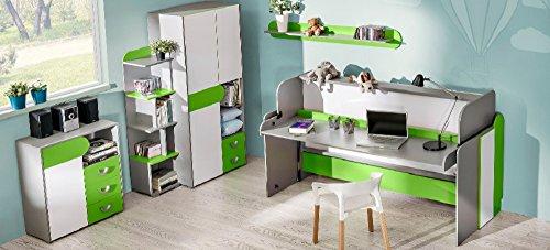 SMARTBett Kinderzimmer Futuro.06 (5 TLG.) Grün/Brillantweiß
