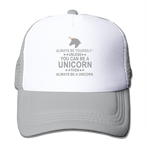 trithaer Always Be Yourself Unless You Can Be A Unicorn Trucker Mesh Cap Pink, grigio, Taglia unica