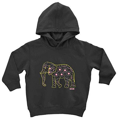 Kostüm Elefanten Kuschelige Baby - HARIZ Baby Hoodie Elefant Bunt Tiere Zoo Inkl. Geschenk Karte Pinguin Schwarz 1-2 Jahre