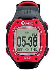 QUMOX Golf reloj IPX7 impermeable Curso GPS reloj Agujero Distancia Puntuación Contador telémetro 30000 Mapa precargado
