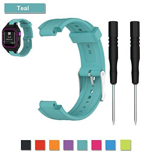 Für Garmin Forerunner 25 GPS Laufen Uhrenarmband, Bemodst Ersatz Zubehörteil Armband Weich Silikon U Bemodst (Teal/Weiblich)
