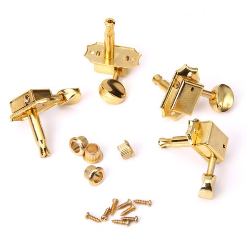 4 Pezzi D'oro Della Chitarra Accordatura Stringa Pioli Teste Di Macchine Tuner Chiave Per Ukulele 2r +2 L