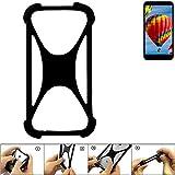 K-S-Trade Handyhülle für Vestel V3 5030 Schutz Hülle Silikon Bumper Cover Case Silikoncase TPU Softcase Schutzhülle Smartphone Stoßschutz, schwarz (1x)