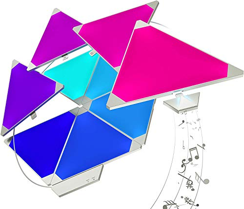 Foto Nanoleaf Aurora Smarter Kit 15 Pannelli LED RGBW, 16.7 Millioni di Colori, 2 W, con Modulo Aurora Rhythm