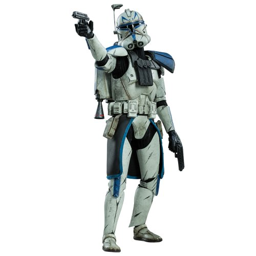 Military 's of Star Wars Star Wars Captain Rex ( Phase 2 armor version ) 1/6 scale plastic -painted action figure by (Captain Star Wars Rex)