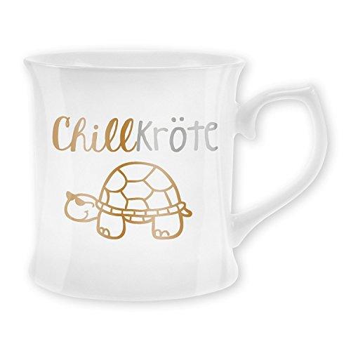 tytree 43486 Tasse mit Motivdruck Chillkröte, New Bone China Porzellan, 40 cl (Schildkröte)
