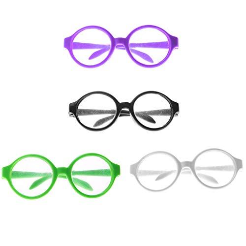 ngläser Runde Rahmen Sonnenbrillen Puppenbrillen für 18 Zoll Puppen ()