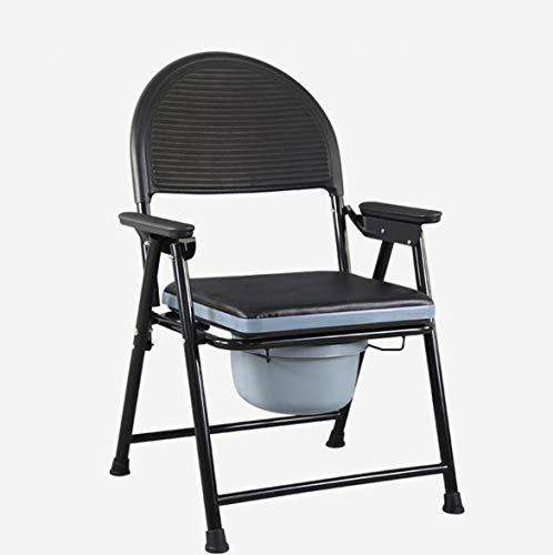 Höhe Duschstuhl (LFNIU Alter Mann Toilettensitz bewegliche Toilette Bad Stuhl Duschstuhl Feste Höhe tragbare Klapp)
