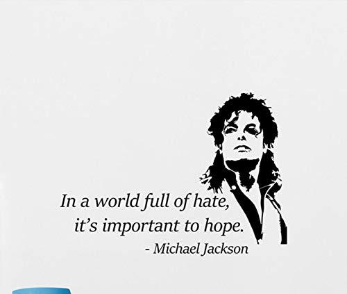 Michael Jackson Wand Vinyl Applique Musik Aufkleber Poster Dekorative Wandbild Abnehmbare Home Art Deco Wandbild 56X98cm