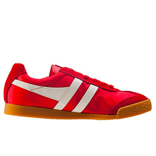 Gola Harrier Nylon, Baskets Homme Rouge (Red/off White Rx)