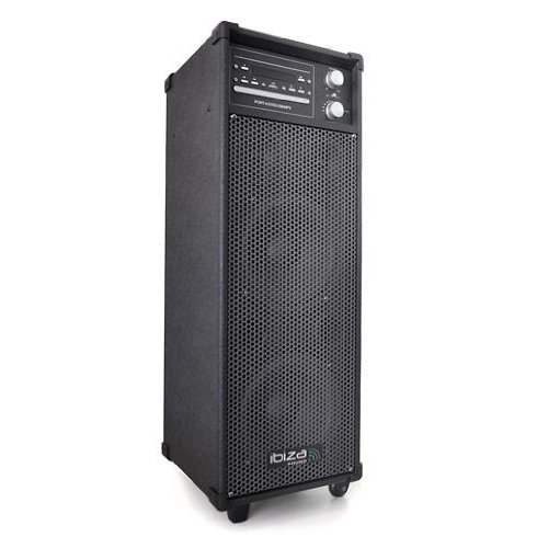 Ibiza 10001974  PA Mobiles Audio/Video Beschallungs Komplettsystem (100 Watt, 2x Mic-In, DVD/CD-Player, USB, MP3)