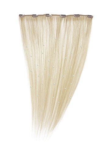 American Dream - A19/QFC12/18/60 - 100 % Cheveux Naturels - Pièce Unique Extensions Cristallisées à Clipper - Couleur 60 - Blond Pur - 46 cm
