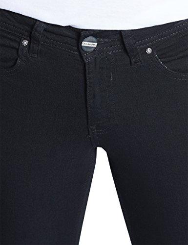 Oklahoma Jeans Damen Straight Jeans Marina Schwarz (Black 021)