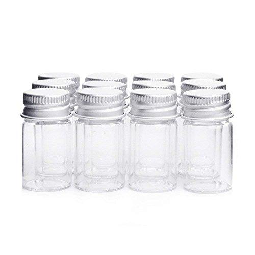 Danmu Art Ampullen klar Glas Flaschen Candy Flasche mit Aluminium Schraube Top Gläser Kleine Container , 7ml -