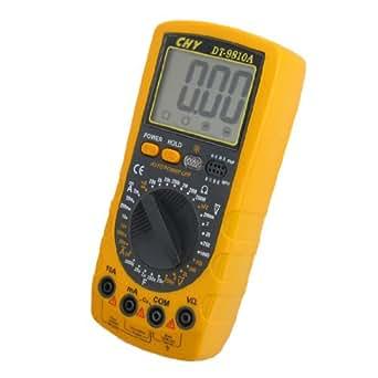 Affichage LCD AC DC Voltmètre Ohmmeter multimètre numérique CC DT - 9810A
