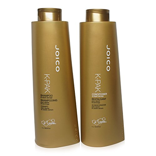 Joico K-pak Shampoo and Conditioner Liter Duo 33.8 oz Set by Joico