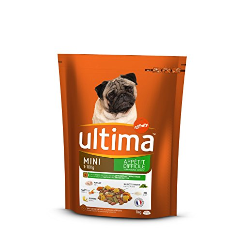 Ultima crocchette per Cane Mini (1-10kg) Adulto Appetito Difficile Pollo 1kg-Confezione da 8