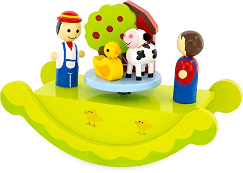 Ulysse 3978 Musical rocking Farm, grün Farm Music Box