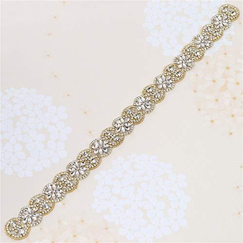 126 Cinturón de Novia, Wedding Crystal Sash, Rhinestone -