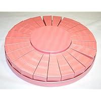 Torta Rosa Porta confetti in cartoncino 24 Scatole L.10x5H cm+1 Tonda con coperchio diam.16x6Hcm e vassoio alla base diam.38cm. Bomboniere