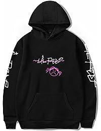 SERAPHY Unisex Felpa con Cappuccio Lil Peep Angry Girl Primavera Felpe Hip  Hop Rapper Felpa Casual 92a276f3cbae